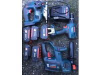 Bosch 18 v sds drills set