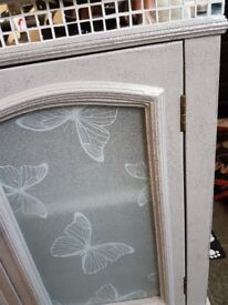 Upcycled grey and glitter cabinet size HEIGHT 70CM WIDTH 65 CM DEPTH 28CM