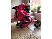 Phil and Teds V2 Sport Double Buggy in camo pink.