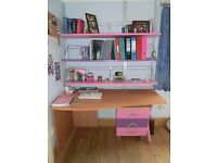 Kids Study desk italian furniture Moretti in Pink/Purple