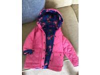 Children's pink quilted coat / jacket