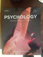 1st/2nd year Psychology textbook