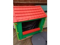 Keter red & green playhouse