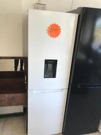 Logic 50/50 white fridge freezer with water dispenser new graded