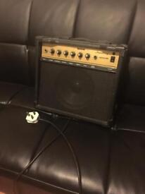 Amp with electric guitar