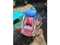 Pink little tykes car , used condition got some scratches