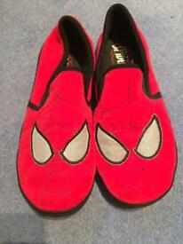 Spider- Man slippers size 7