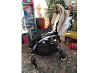 Bugaboo Bee in great condition,with Bugaboo Baby Cocoon and fitted with Woolibaloo footmuff