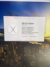 "MacBook Pro - 15"" Retina (mid 2012), 2.7 i7, factory 500gb flash / 16gig ram"