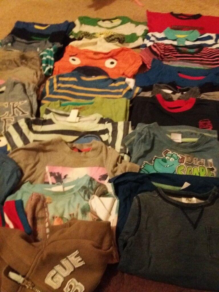 Large bundle of boys clothes 9-12 & 12 -24 months