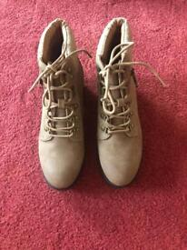 Suede Boots Women's Size 4