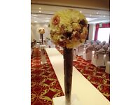 REDUCED PRICE! Silk Flowers Wedding Decoration - USED