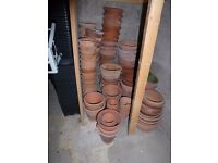 Assortment of Terracotta Pots for sale in various sizes