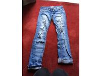 Free small Topshop jeans with rip