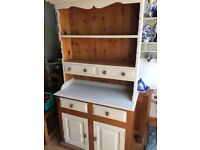 Solid heavy pine 3 foot dresser painted in pale green