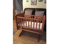 Glider crib/cot by Obaby - B is for Bear in solid pine (mothercare)