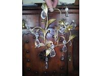 *CHARITY SALE* CHANDELIER -- small, good for parts, some glass detail missing