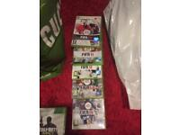 Xbox 360 limited edition with games. 2 controllers