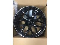 20 inch S63 e63 Style Alloy Wheels AMG Mercedes E class S class black 5x112