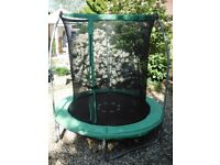 6 foot trampoline with safety net