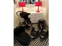 Quinny Buzz Travel System (Rocking Black) complete with 2 x Easyfix Isofix bases