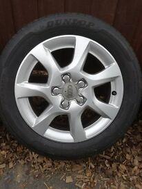 Audi Alloy Wheels + Tyres X 4