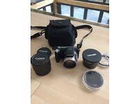 Olympus SP-800UZ Digital Camera + Telephoto and zoom lenses and bag etc