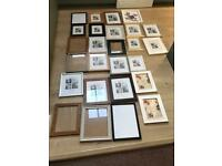 Large job lot of 26 photo/picture frames