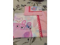 Peppa pig cot bed bedding