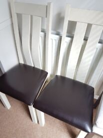 4 excellent quality leather seats dining chairs