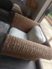 Shabby Chic Vintage Rattan Armchair -