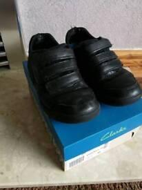 Boys / kids clarks size 12F black school shoes