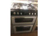 60CM BLACK/SILVER STOVES GAS COOKER