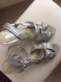 Pretty silver heels from Next