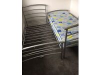 Two silver metal beds and one mattress-must go tonight//tomorrow