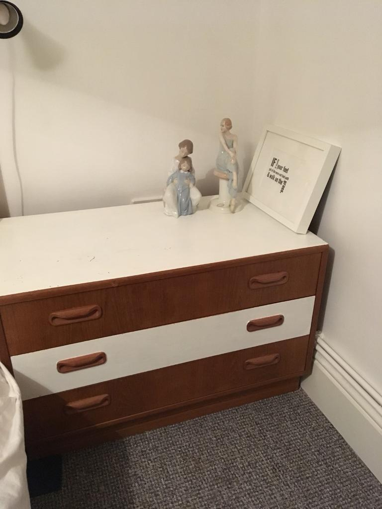 G Plan Mid Century retro upcycled chest of drawers