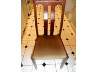 REAL SOLID WOOD SET OF 6 DINING CHAIRS MINOR SCRATCHES GOOD CONDITION