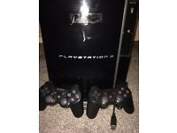 Playstation 3 w/ controllers and cables