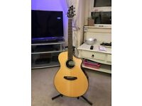 Breedlove Pursuit Concert Ebony Guitar only played a few times Inc Breedlove soft Gig Bag