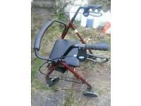 Rollator walker portable folding