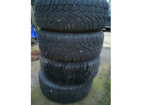 4x gislaved nordfrost winter tyres 205 55 16 with 7mm tread