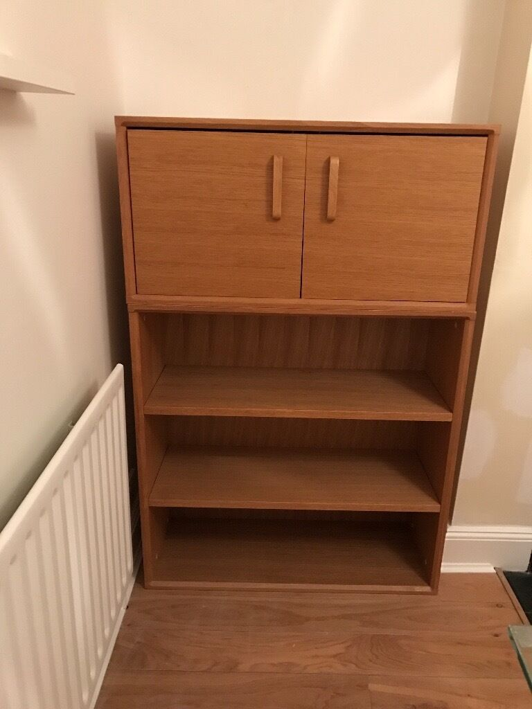 Two Habitat bookcases and one small cupboard for salein Kingston, LondonGumtree - Two Habitat bookcases and one cupboard for sale. Walnut veneer Bookcases are £20 each Cupboard is £5 The bookcases are very solid, and in good condition, with a few minor scratches. The cupboard is pretty wonky, but can be refurbished. It needs the...