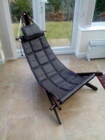 Designer Chair. Brazilian Rawhide Leather. Ex. condition.