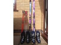 2 sets of skis, boots and poles. £50 per set, will offer discount for both sets.