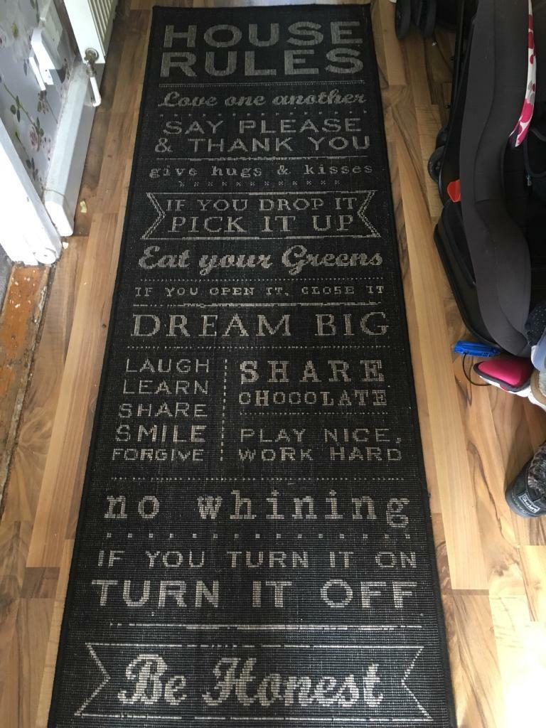 House rules runner rug | in Plymouth, Devon | Gumtree