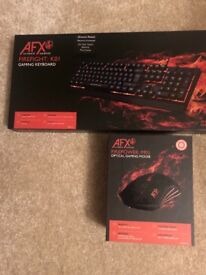 Brand new firepower optical gaming mouse and gaming keyboard.