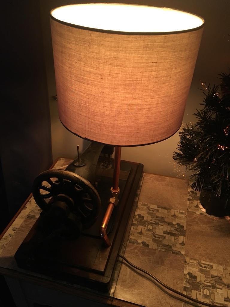 Singer sewing machine table lamp