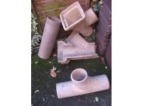 Clay drainage fittings