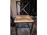 Metal Frame Dining Table with 4 chairs