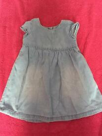 Baby girls jean dress
